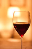 Glass of red wine. Close up image of a glass of red wine in a  restaurant setting Royalty Free Stock Photo