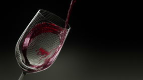 Glass of Red Wine 3D Animation stock video