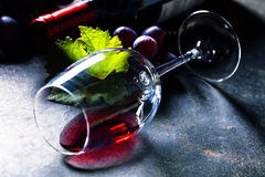 Glass of red wine Stock Photography