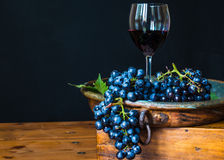 Glass of red wine. Royalty Free Stock Photo