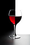 Glass of red wine isolated Stock Images