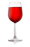 Glass of red wine isolated on white background Royalty Free Stock Photo