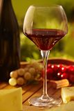 Glass of red wine outdoor Stock Photography