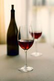Glass of red wine. Selective focus Royalty Free Stock Photography