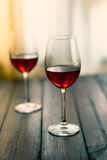 Glass of red wine. Selective focus Stock Image