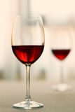 Glass of red wine. Selective focus Royalty Free Stock Photo