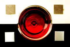 Glass of red wine on top Royalty Free Stock Photography