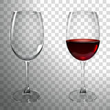 Glass of Red Wine. On a transparent background Royalty Free Stock Image