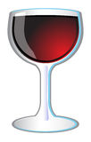 Glass of Red Wine Vector Icon Illustration Stock Photography