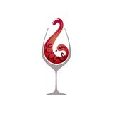 Glass of red wine. Vector illustration of Glass of red wine isolated vector illustration