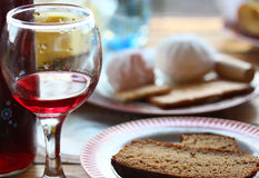 Glass of red wine. View of the glass of red wine Royalty Free Stock Image