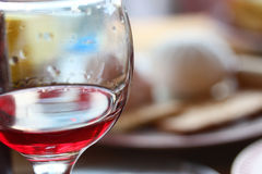 Glass of red wine. View of the glass of red wine Royalty Free Stock Photos