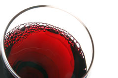 Glass of red wine view from above Stock Images