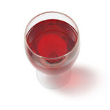 Glass of red wine w Royalty Free Stock Photo