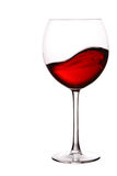 Glass of red wine with wave Royalty Free Stock Photo