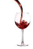 Glass of red wine with wave Royalty Free Stock Photos
