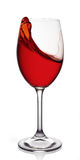 Glass of red wine. On white background Stock Image