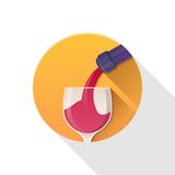 Glass of red wine. Royalty Free Stock Photography