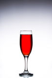 Glass with red wine on a white gray background Stock Photo