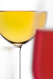 Glass of Red Wine and White Wine Royalty Free Stock Images