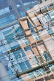Glass reflection abstract image on modern building Royalty Free Stock Image