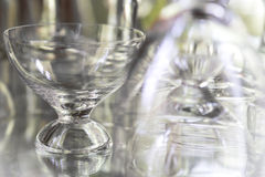 Glass with reflection Royalty Free Stock Photos
