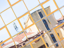 Glass reflection colored Royalty Free Stock Image
