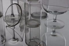 Glass reflexion Arkivfoton