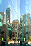 glass reflexioner Arkivfoto