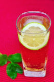 Glass of Refreshing drink and mint Stock Photography
