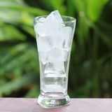 Glass of refreshing ice cube Stock Photos