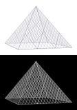 glass ren pyramid för teckning vektor illustrationer