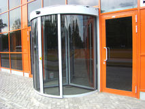 Glass revolved door. Is in glass building Stock Photography