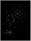glass rik wine för bakgrund Arkivfoton
