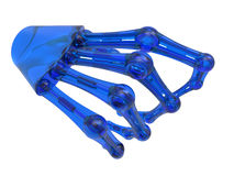 Glass robotic arm Royalty Free Stock Images