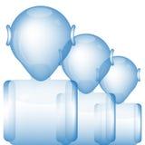 Glass Robots Stock Photo