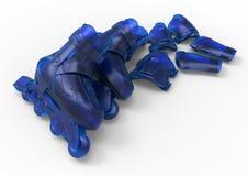 Glass roller skaters illustration Royalty Free Stock Photo