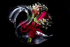 glass romantisk swan Royaltyfria Foton