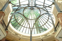 Glass roof. At Mall in Hamburg, Germany stock photography