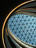 Glass roof. Of a modern shopping mall Royalty Free Stock Photos