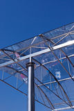 Glass roof. Streets reflected in the glass roof of modern building Royalty Free Stock Image