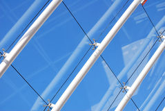 Glass roof. Section of modern glass roof structure stock photography