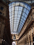 Glass roof. Roof detail of Vittorio Emanuele II in Milan Stock Photos