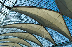 Glass roof. Modern glass roof of an airport terminal Stock Image