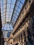 Glass roof. Roof detail of Vittorio Emanuele II in Milan Royalty Free Stock Image