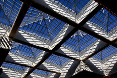 Glass Roof. Windows against blue sky Stock Images