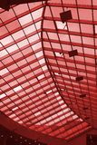 Glass Roof. Photo of Glass Roof in red Royalty Free Stock Image