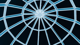 Glass roof. Circle glass roof construction - old-fashioned style royalty free stock image