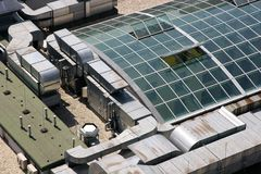 Glass Roof. Viewed from above royalty free stock photos