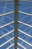 Glass roof. View of the sky through a glass roof Royalty Free Stock Images